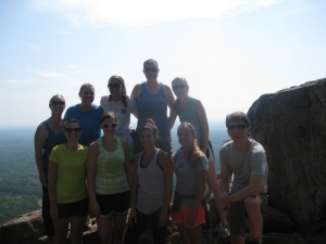 Experiencing nature continuing education class hike to Crowders Mountain